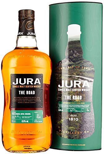 Jura THE ROAD Single Malt Scotch Whisky mit Geschenkverpackung (1 x 1 l) von Jura