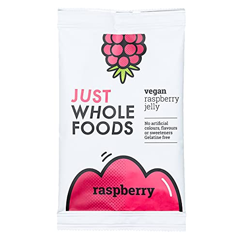 3 x Just Wholefoods Organic Raspberry Real Fruit Flavoured Jelly Crystals 85 von Just Wholefoods