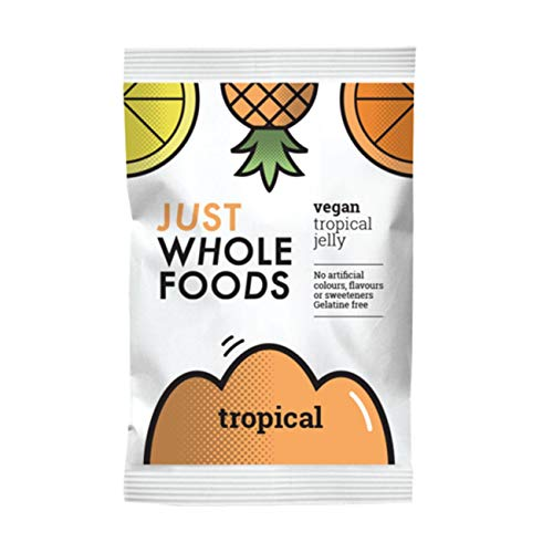 6 x Just Wholefoods Organic Tropical Real Fruit Flavoured Jelly Crystals 85g von Just Wholefoods