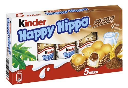 Kinder Happy Hippo Snack Cacao, 1er Pack (1 x 103g) von Kinder