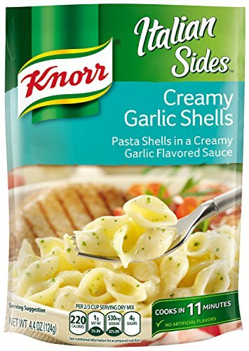 Knorr Italian Sides, Creamy Garlic Shells 4.4 oz (Pack of 12) by Knorr von Knorr