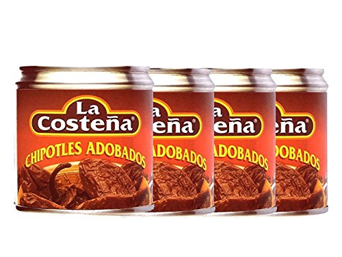 Chipotles in Adobo Chilis Spar-Paket 4er-Pack von La Costena