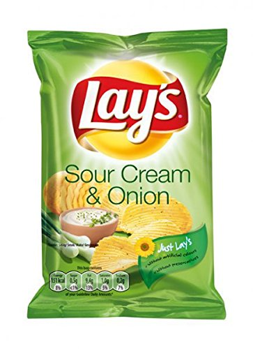 Lay's Chips Sour Cream and Onion 80x27,5g von Lay's