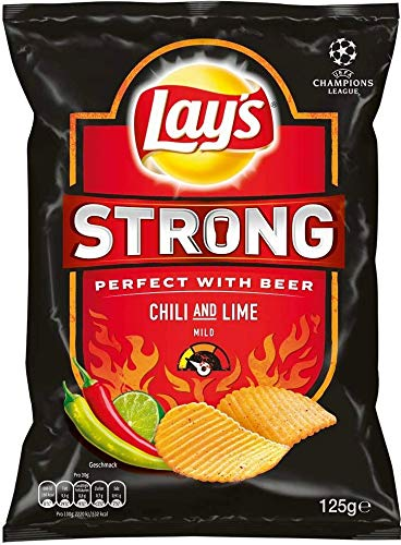 Lay's - Strong Chili & Lime Chips, 5er Pack, 5 x 125g von Lays