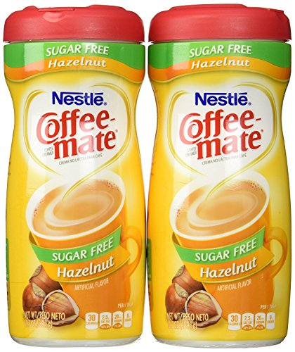 Coffee-Mate, Sugar Free Hazelnut, Powdered Coffee Creamer, 10.2oz Canister (Pack of 2) by Coffee-Mate von Nestlé