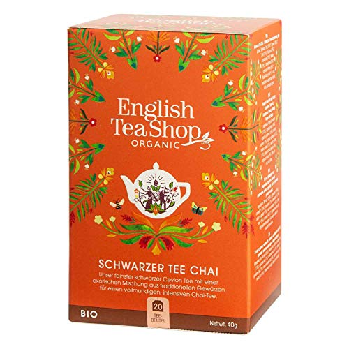 English Tea Shop - Schwarzer Tee Chai, BIO, 20 Teebeutel - (DE-Version) von English Tea Shop
