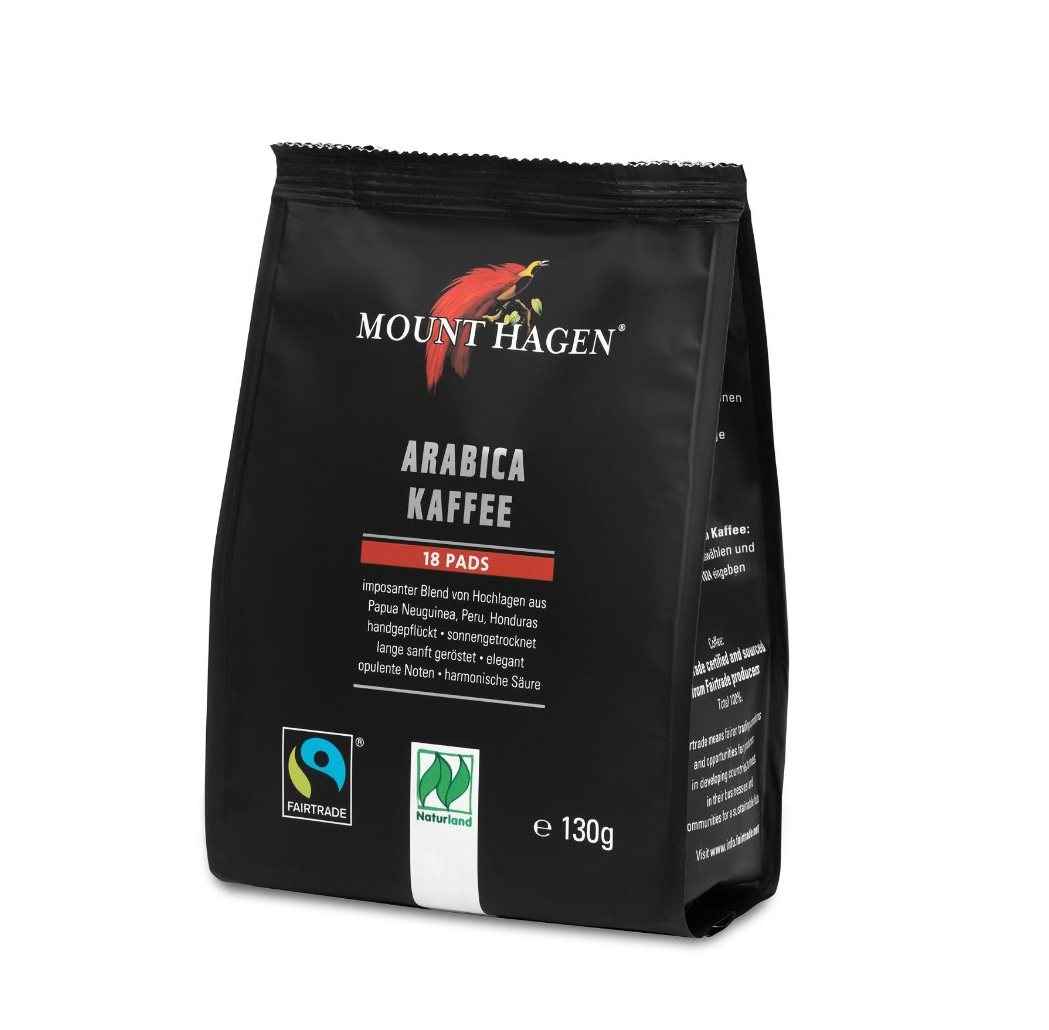 Mount Hagen Fairtrade Röstkaffee Pads