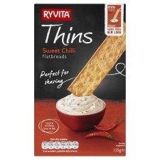 Ryvita Thins Sweet Chilli 125g - Pack of 6 by Ryvita von Ryvita