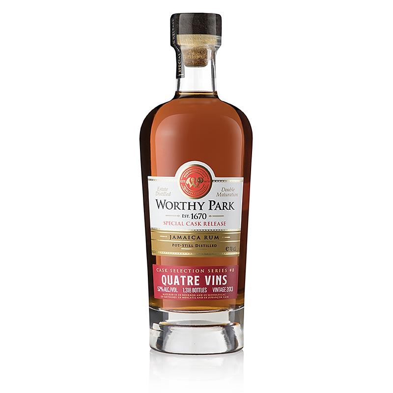 Worthy Park Estate Jamaica Rum 2013er Quatre Vins Special Cask, 52% vol., 700 ml