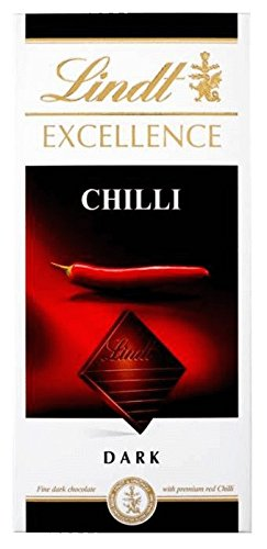 Lindt - Excellence - Dark Chilli - 100g (Pack of 5) von Lindt