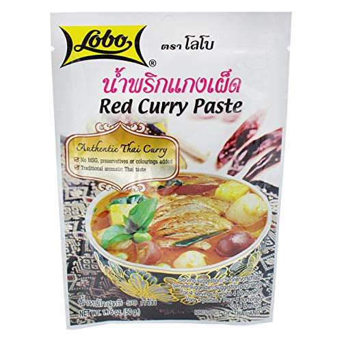 Rote Curry Paste - Original aus Thailand - Für leckeres Thai Curry, 12 x 50g von Lobo