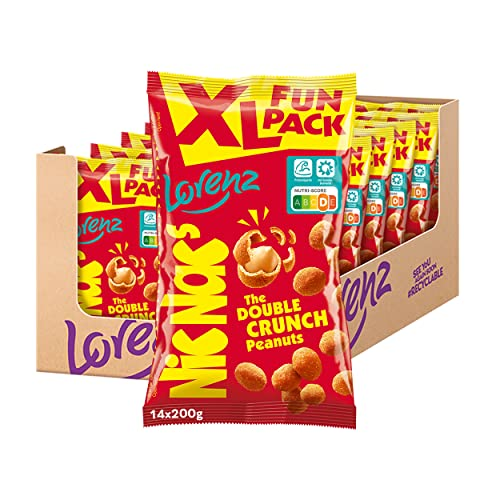 Lorenz Snack World Nic Nac's Original XL Fun Pack, 14er Pack (14 x 200 g) von Lorenz Snack World