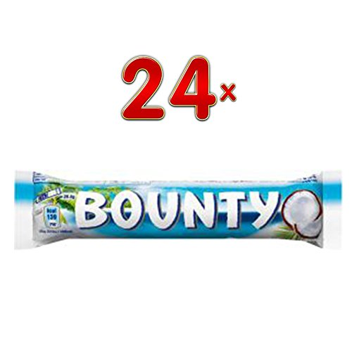 Bounty Melk Single, 24 x 57g Riegel (Bounty Kokusriegel) von MARS
