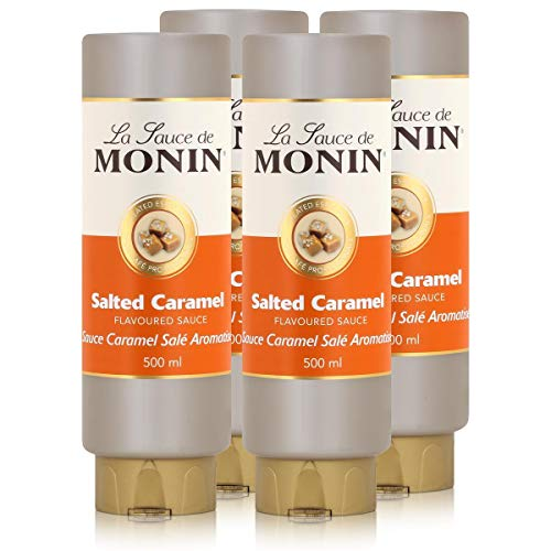 Monin Salted Caramel Sauce 500 ml - Salted-Caramel Flavoured Sauce (4er Pack) von MONIN
