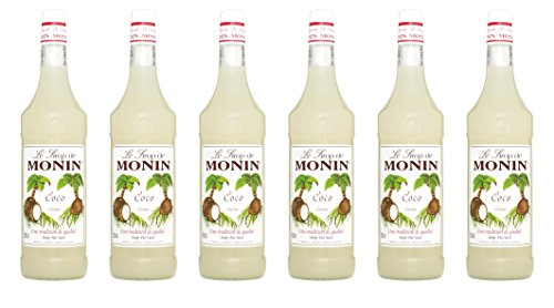 Monin Sirup Kokosnuss, 1,0L 6er Pack von MONIN