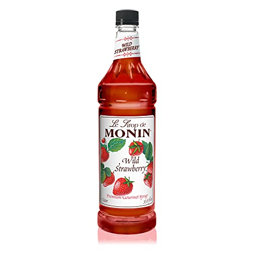Monin Syrups Wild Strawberry Syrup, 1 liter by Monin von MONIN