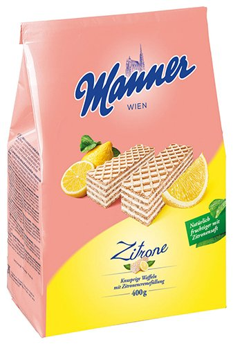 5x Manner - Schnitten Zitrone - 400g von Manner