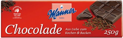 Manner Koch-Schokolade 250g, 5er Pack (5 x 250 g) von Manner