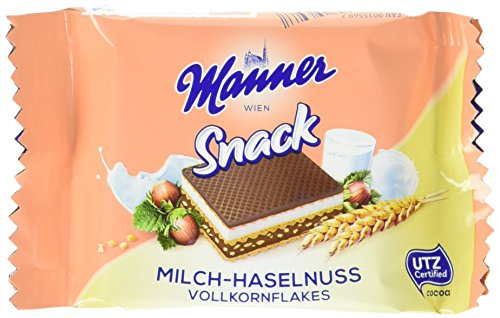 Manner Milch Haselnuss, 30er Pack (30 x 25 g) von Manner