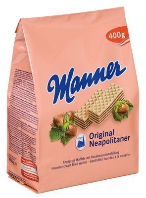 Manner Original Neapolitaner Schnitten - 400gr - 4x von Manner