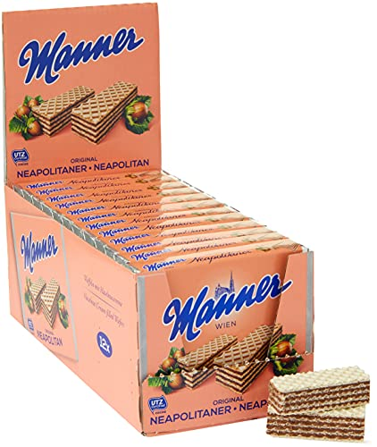 Manner Original Neapolitaner Wafers 75 g (Pack of 12) von Manner