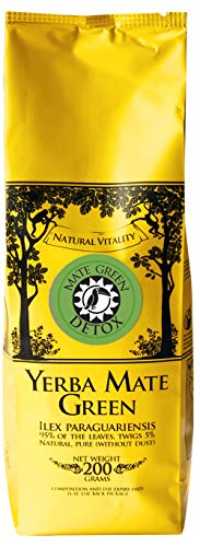 Mate Green Yerba Mate Green Detox 200 g, Best Kind of Yerba Mate for Good Digestion, Defeat Fatigue in No Time, Revitalize Yourself and Reset Your System, von Mate Green
