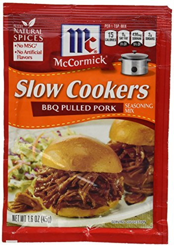 McCormick Slow Cookers: BBQ Pulled Pork (Pack of 4) 1.6 oz Packets by McCormick von McCormick