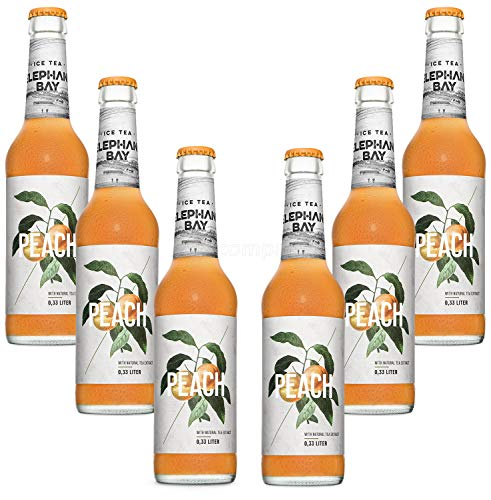 Elephant Bay ICE TEA Eistee Peach Set - 6x Elephant Bay Peach je 330ml inkl. Pfand - MEHRWEG von Mixcompany.de Bar & Glas