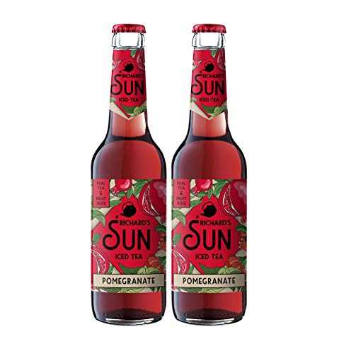 Richards Sun Iced Tea - 2er Set Eistee Pomegranate - 2x 0,33L inkl. Pfand MEHRWEG von Mixcompany.de Bar & Glas