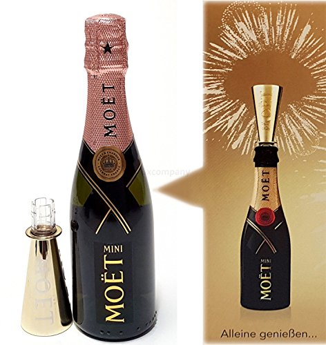 Moet & Chandon Rose Mini Imperial Champagner 20cl (12% Vol) + Ausgiesser von Moet & Chandon