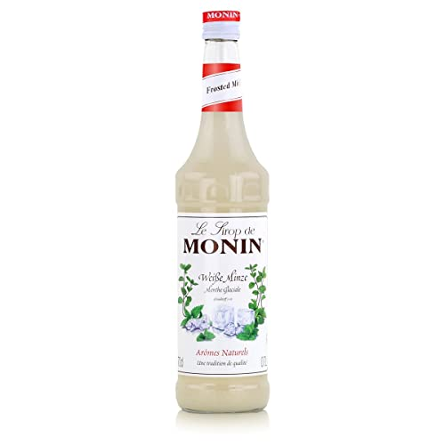 Monin - Weiße Minze Sirup Getränkezusatz Cocktailsirup Cocktail Pfefferminz Drinks Spearmint - 0,7l von MONIN