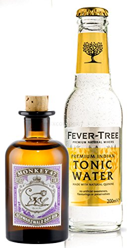 Gin Tonic Probierset - Monkey 47 Schwarzwald Dry Gin 5cl (47% Vol) + Fever-Tree Tonic Water 200ml von Monkey 47
