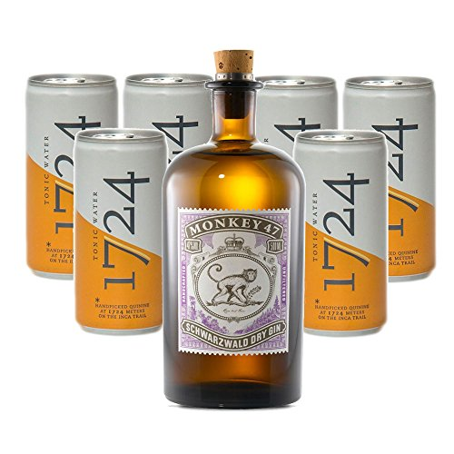 Monkey 47 Gin (1 x 0.5 l) mit 1724 Tonic Water (6 x 0.2 l) von Monkey 47