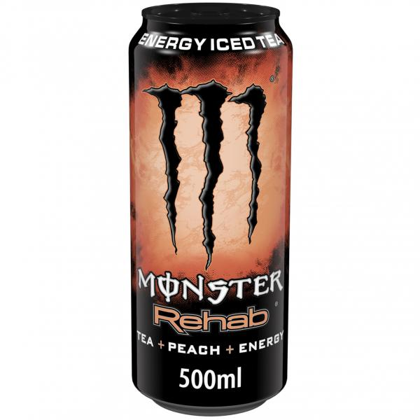Monster Rehab Tea + Peach + Energy (Einweg) von Monster