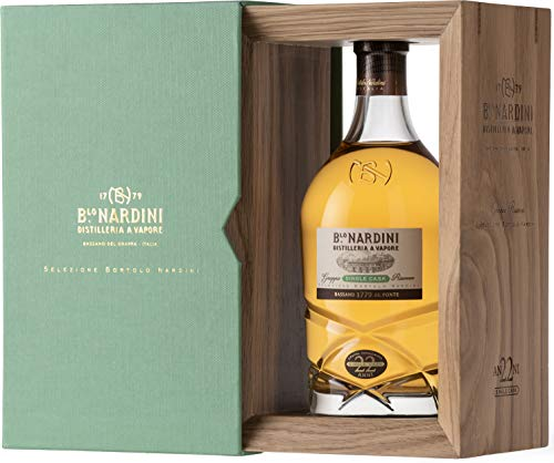 Nardini Grappa Riserva 22 Jahre Single Cask 0,7 Liter 45% Vol. in Holzbox von Nardini