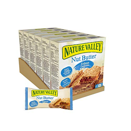 Nature Valley Nut Butter Erdnuss, 6er Pack (6 x 152 g Multipack mit je 4 Riegeln) von Nature Valley