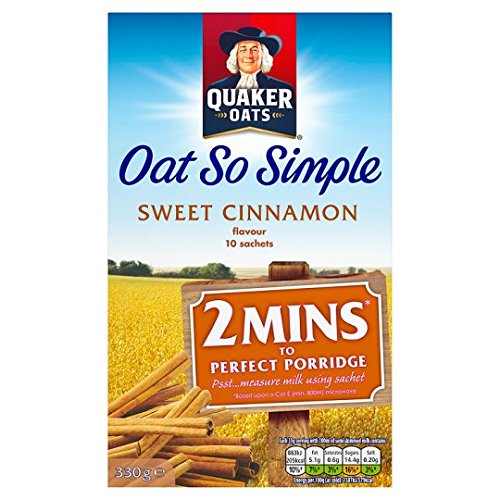 Quaker Oats Oat So Simple Sweet Cinnamon Porridge 10 X 33G von Quaker