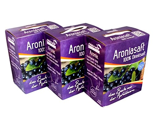 Obsthof Stockinger Aronia Muttersaft Bag in Box Aroniasaft, Sparpaket, 3x 3 l von Obsthof Stockinger