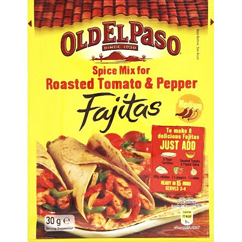 Old El Paso Spice Mix For Roasted Tomato & Pepper Fajitas 35G von Old El Paso