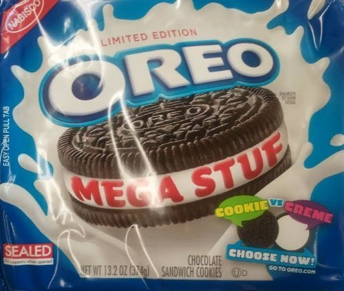Nabisco, Oreo, Chocolate Cookie, Mega Stuf, Limited Edition, 13.2oz Bag (Pack of 4) by Oreo von Oreo