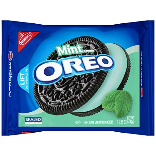 Oreo Chocolate Sandwich Cookies, Cool Mint Creme, 15.25 Ounce Package (Pack of 12) by Oreo von Oreo