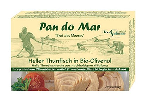 10er-VE Heller Thunfisch in Bio Olivenöl 120g Pan do Mar von Pan do Mar