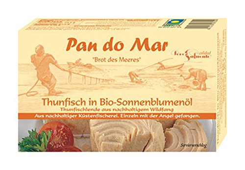 10er-VE Thunfisch in Bio Sonennblumenöl 120g Pan do Mar von Pan do Mar