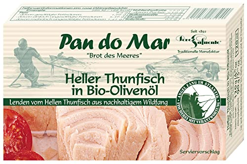 Pan do Mar Heller Thunfisch, in Bio Olivenöl (6 x 120 gr) von Pan do Mar