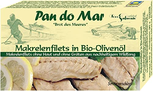 Pan do Mar Makrelenfilets in Bio Olivenöl extra nativ (6 x 120 gr) von Pan do Mar