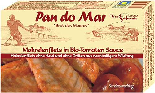 Pan do Mar Makrelenfilets in Bio-Tomaten-Soße (6 x 120 gr) von Pan do Mar