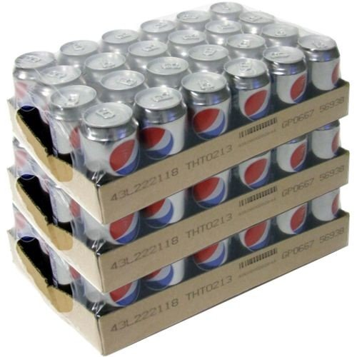 Pepsi Cola light Zuckerfrei, 72 x 0,33l Dose von Pepsico