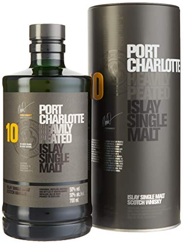 Bruichladdich Port Charlotte Scottish Barley 10 Jahre Single Malt Whisky (1 x 0.7 l) von Port Charlotte