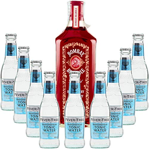 Pack Gintonic - Bombay Gin + 9 Raspberry Fever Tree Mediterranean Water - (70cl 20cl * + 9) von ProvencePremiumRosé