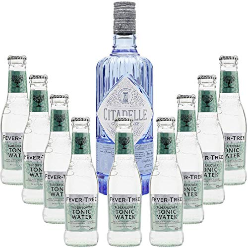 Pack Gintonic - Citadelle Gin Classic + 9 Fever Tree Holunder Water - (70cl 20cl * + 9) von ProvencePremiumRosé